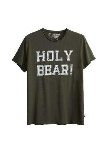 Bad Bear Erkek Tişört Holy Bear 210107026-Wht Haki